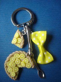 Porte clefs FIMO tarte fruits - porte-clé & bijoux - CREASTELLA - Fait Maison