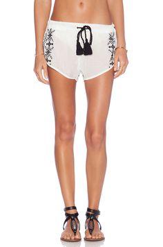 Vix Swimwear Embroidery Short in SOLID WHITE | REVOLVE