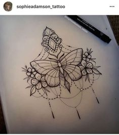 Es notitle) -Dimitri Varniere- # Dimitri - New Ideas - Butterfly Mandala Tattoo, Mandala Sternum Tattoo, Butterfly Tattoo Designs, Sternum Tattoo Design, Forearm Tattoos, Body Art Tattoos, Tattoo Drawings, Sleeve Tattoos, Mini Tattoos