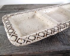 Divided Serving Platter - Three Part Vegetable Tray