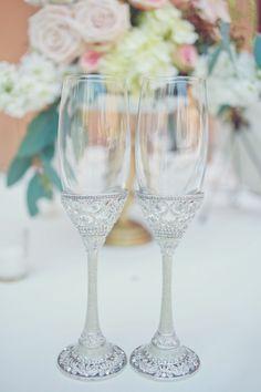 Elegant Glamorous Wedding Champagne Flutes- Beautiful Gifts