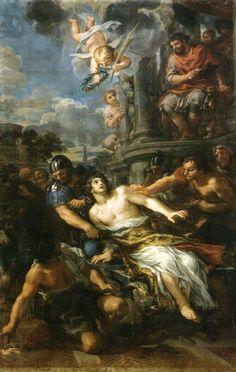 Het martelaarschap van de heilige Laurentius ~ 1653 ~ Olieverf op doek ~ 320 x 210 cm. ~ Capelli di Franceschi, Santissimo Michele e Gaetano, Florence
