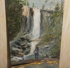 Такие дела.    My new artwork. Also u can watch a video with process. Link in description.  #nepraville  #daxgraffiti #painting #artwork #kazan #girl #waterfall #nature #stones #sky #forest #trees #daily