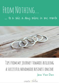 Hey Thriver! I'm glad you could join us – if you want to turn your handmade hobby into a thriving biz, you're in the right place. Below is your free #HandmadeBusinessToolkit of re…
