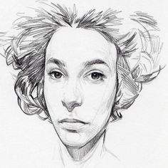 Take your mind off your troubles and enjoy something nice. Pencil Art, Pencil Drawings, Daily Drawing, How To Draw Hair, Pencil Portrait, Simple Art, Figure Drawing, Cool Drawings, Line Art