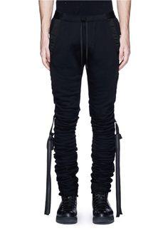 UNRAVEL Shirred ribbon strap pants. #unravel #cloth #pants