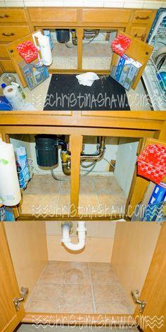 DIY Peel & Stick Tiles under Sinks