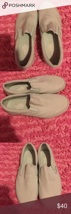 Mint slip on vans Brand new. I only tried them on. Men's 7.5/women's 9. Vans Shoes