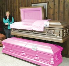 Of the numerous decisions to make when a loved one passes is whether they should be burried or cremated. Personally, I'm thinking a burial — why be cremated when they make pink coffins? While many — myself included — are still in good health, it's always a good idea to think ahead and plan some arrangements for the funeral, making it easier on your loved ones. I already know I'll be in good hands at McColley's Chapels of the Hills. Ijust need to make my mind up on the coffin!