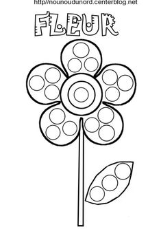Coloring Pages for PonPon Bonding Activity Preschool Art Activities, Spring Activities, Yayoi Kusama, Spring Crafts For Kids, Art For Kids, Dotted Page, Do A Dot, Dot Painting, Coloring Pages
