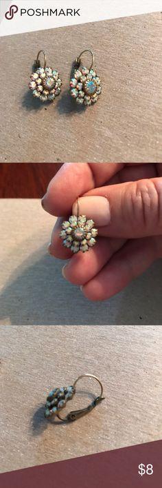 Iridescent flower earrings Pretty iridescent flower earrings Francesca's Collections Jewelry Earrings