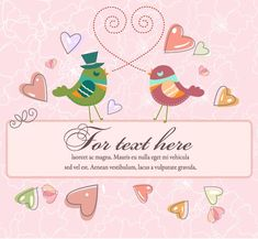 Love Birds With Frame Vector Illustration Love Birds, Adobe Illustrator, Vector Art, Symbols, Flower Decoration, Colorful Birds, Abstract, Frame, Illustration