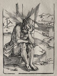Hans Sebald Beham (1500-50) - The Man of Sorrows (woodcut); Cleveland Museum of Art