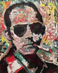 Original Portrait Painting Hunter S Thompson 16x20 by Matt Pecson