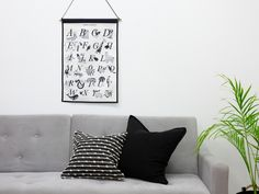 Mocka Large Wall Art Hanger - Animal Alphabet