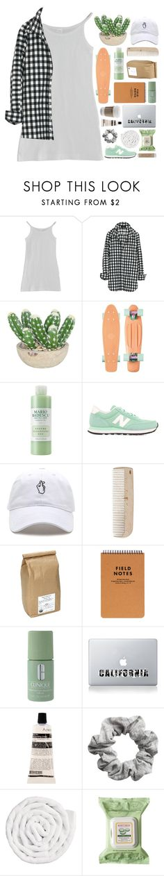 """""""Erina"""" by etheras ❤ liked on Polyvore featuring American Apparel, The French Bee, Mario Badescu Skin Care, New Balance, HAY, Davidson's, Clinique, Vinyl Revolution, Aesop and H&M"""
