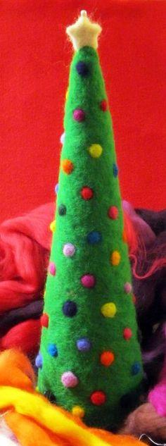 Needle felted Christmas tree by Lindsay Obermeyer