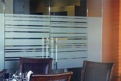 Decorative Window Film For Offices Glass Film Design, Glass Etching Designs, Waiting Room Design, Sand Glass, Industrial Office, Window Film, Office Interiors, Blinds, Custom Design