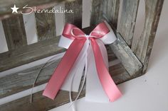 Hochzeitsdeko - 10 Autoschleifen Antennenschleifen Altrosa Weiss ♥ - ein Designerstück von Sterndalina bei DaWanda