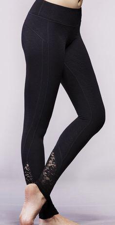 Lace workout leggings