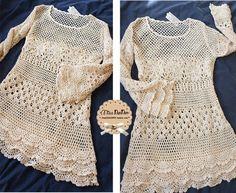 Kel Cuesta - Tricô e crochê: Blusa branca de crochê - passo a passo