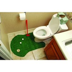 @Overstock - Bathroom Putting Green Golf Game - There's always enough time to practice your golf game with this hilarious bathroom putting game. With this truly innovative game, you can work on your putting skills with each trip to the restroom.  http://www.overstock.com/Sports-Toys/Bathroom-Putting-Green-Golf-Game/8967581/product.html?CID=214117 $20.99