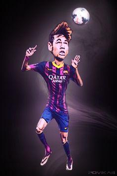 406. Caricature: Neymar [by @povikas]