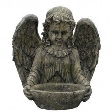 "17"" Garden Angel Bird Bath"