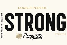 Double porter 12 fonts + extras by fenotype on Strong Font, Typography Love, Creative Fonts, Sans Serif Fonts, Library Design, Custom Fonts, Vintage Labels, Lower Case Letters, Lowercase A