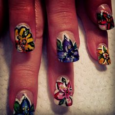 Flower Power Nail Art by Katie Rodick