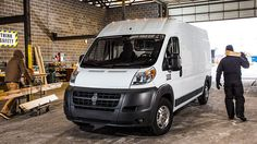2014 Ram Promaster- The available 101-inch-high roof model increases cargo capacity and allows workers to fully stand up inside the van. Visit http://www.jimclickdodge.com/
