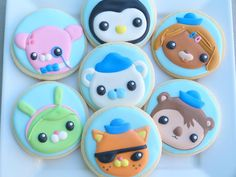 The Octonauts | Cookie Connection Birthday Cookies, Birthday Party Favors, 3rd Birthday Parties, Birthday Ideas, Third Birthday, Baby Birthday, Octonauts Party, Cookies For Kids, Octanauts Cake
