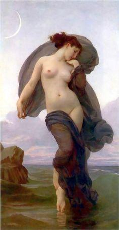meia lua com mulher Bela imagem