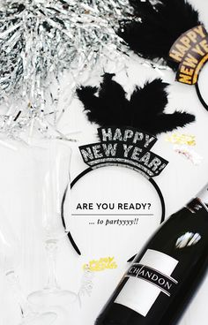 New Year's Eve (Free!) Printable Headband - The Key Item #diy #partydecor #partyprops