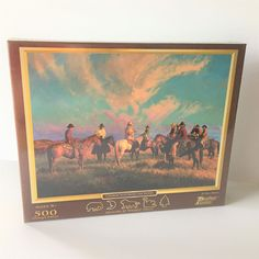 Billy Owen Cowboss Scattering the Hands Cowboy Western 500 Piece Puzzle 2012 #PastimePuzzles