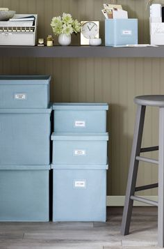 These stackable storage boxes fit anywhere, from the closet to underneath your desk. Find your combination from the Martha Stewart collection at Staples.