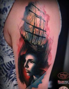 Plus boat tattoos pirate tattoos nice tattoos 9 ori pani boat tattoo 2