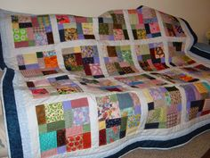 disappearing nine patch quilt | My finished Disappearing 9 Patch inspired by Amy of Stitchery Dickory ...