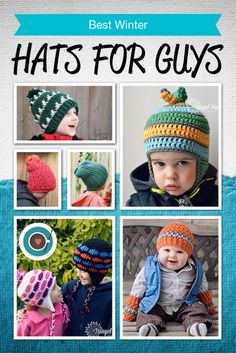 Some great patterns for crochet hats! Good hats for guys are hard to find.