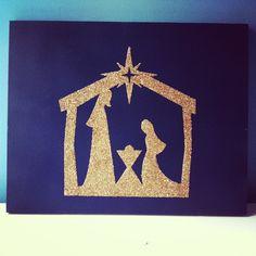 tales of the scotts: Glitter Nativity Canvas #christmas #nativity