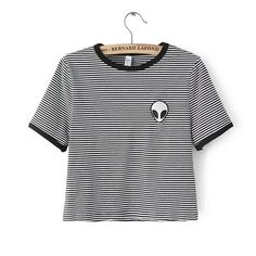 New Fashion European Style Women T shirt  2015 Summer O neck Short Sleeve Embroidered Alien T Shirts Female Harajuku Tops 31405-in T-Shirts from Women's Clothing & Accessories on Aliexpress.com | Alibaba Group