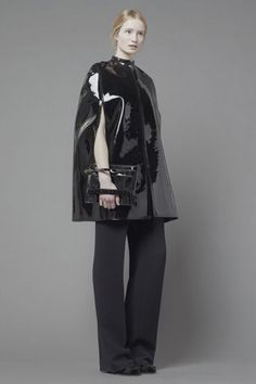 Leather Cape from Valentino 2013: It resembles a Chlamys that a traveler would wear
