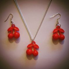 Check out this item in my Etsy shop https://www.etsy.com/uk/listing/257396579/rockabilly-cherries-jewelry-set