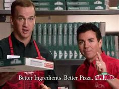 Because Peyton shills for fast food pizza — America's least hatable fast food group.