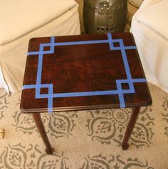 a kitchen table for two: DIY Mint Side Table Table Makeover DIY Kitchen Mint Side Table Diy Furniture Renovation, Refurbished Furniture, Furniture Projects, Furniture Makeover, Painted Furniture, Plywood Furniture, House Projects, Furniture Plans, Wood Projects