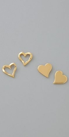 Gorjana Friendship Heart Stud Earrings - StyleSays