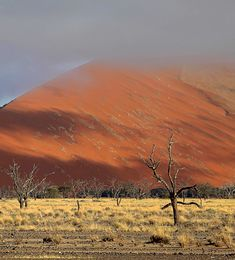 Sossusvlei, in Namibia. This is on our list but research has shown us it is very expensive to get to/stay there