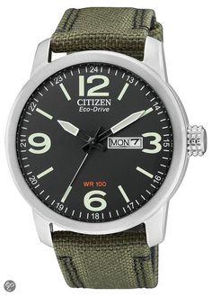 Citizen Eco-Drive - Horloge - 42 mm - Zilverkleurig / Zwart - Solar uurwerk