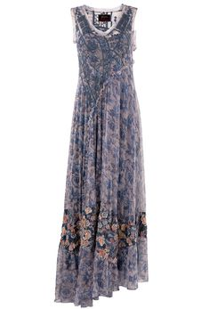 JOHNNY WAS DORYION MESH DRESS - Cowgirl Delight Silk Floral Dress, August 31, Western Dresses, Johnny Was, Mesh Dress, Summer Dresses, Formal Dresses, Floral Embroidery, Feminine