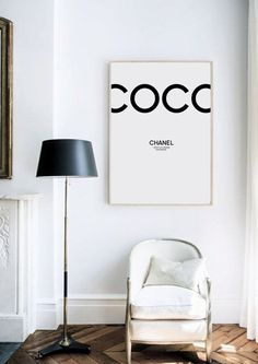 coco chanel, coco chanel decor, coco chanel print, coco chanel poster, coco chanel quote, chanel, fashion print by gorgeous graphic design.
